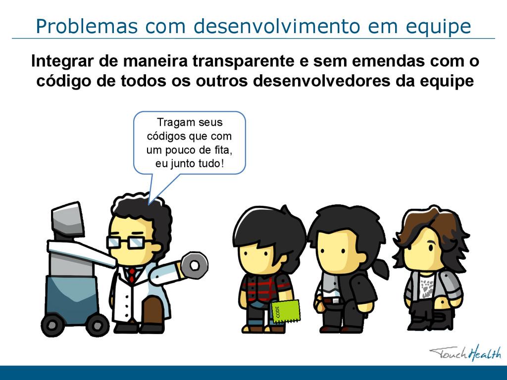 Problemas com desenvolvimento em equipe Integra...