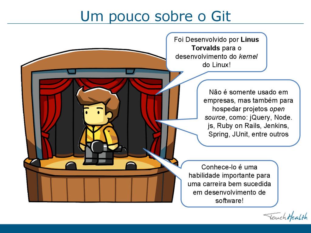 Um pouco sobre o Git Foi Desenvolvido por Linus...