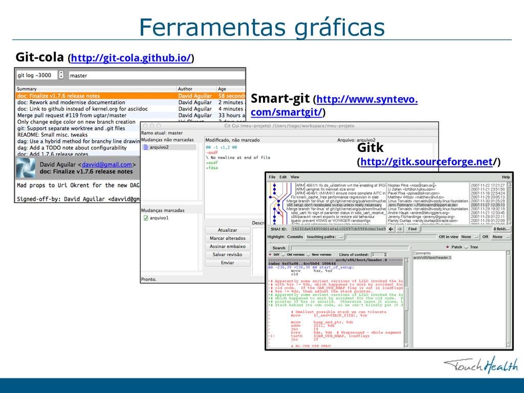 Ferramentas gráficas Smart-git (http://www.synt...
