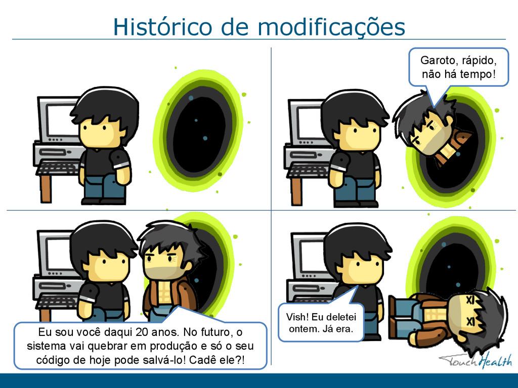 Histórico de modificações Garoto, rápido, não h...