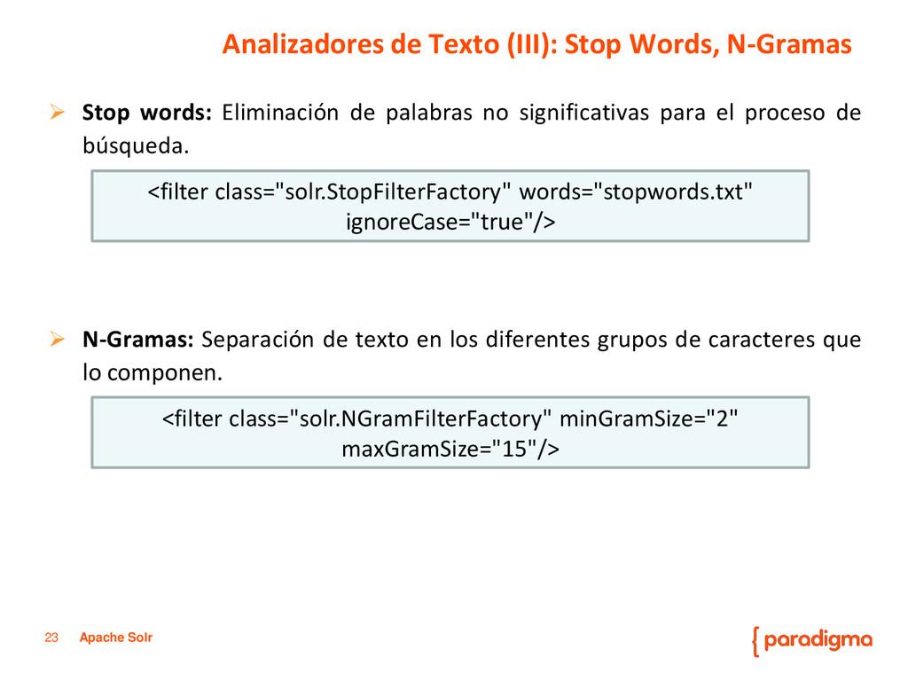 23 Apache Solr  Stop words: Eliminación de pal...