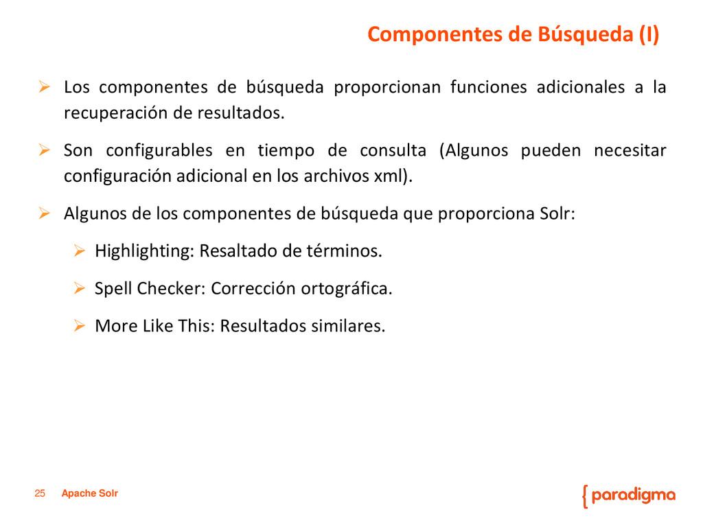 25 Apache Solr  Los componentes de búsqueda pr...