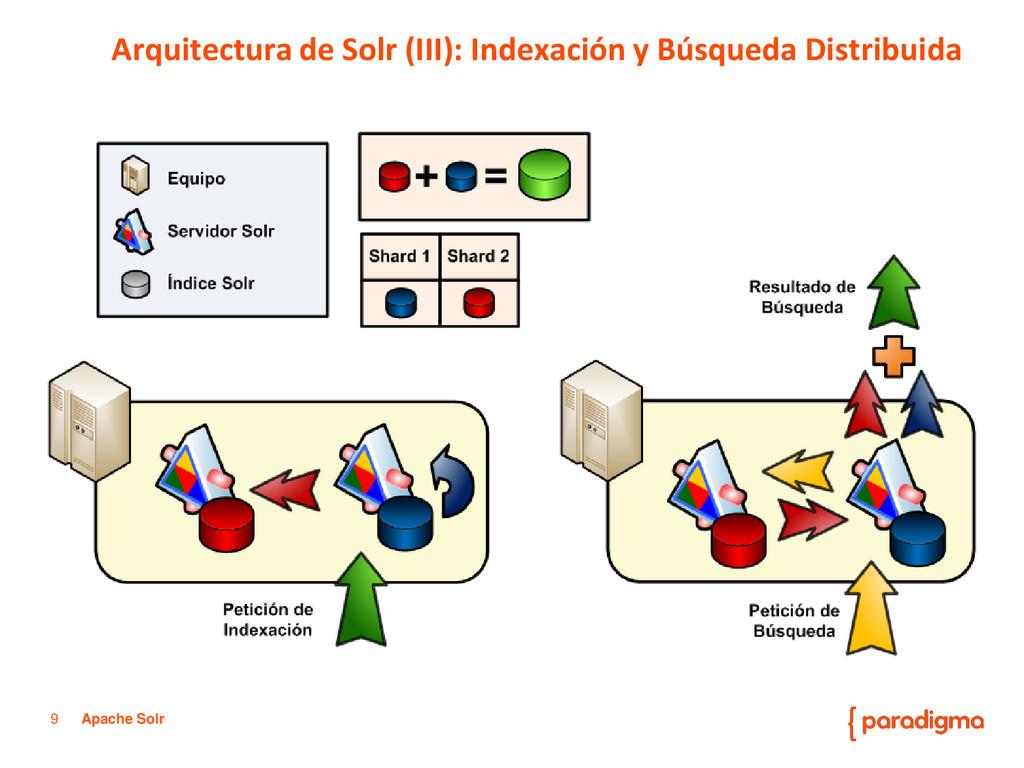 9 Apache Solr Arquitectura de Solr (III): Index...