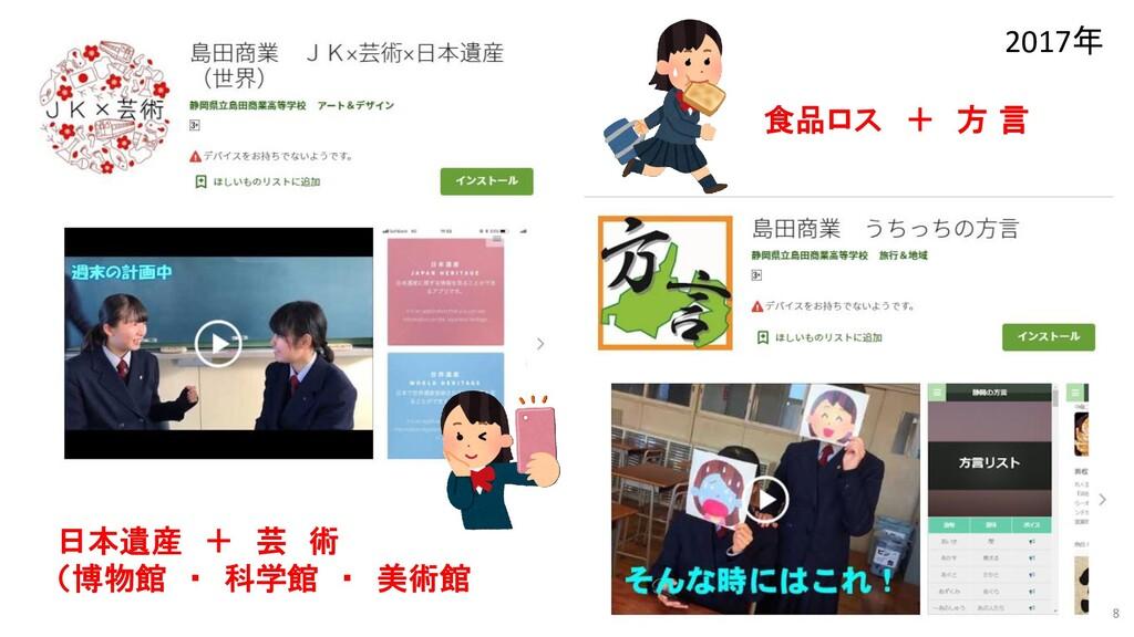 18 平成29年度 日本遺産 + 芸 術 (博物館 ・ 科学館 ・ 美術館) 食品ロス + 方...