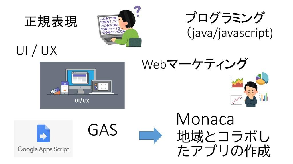 正規表現 プログラミング (java/javascript) Webマーケティング 地域とコラ...