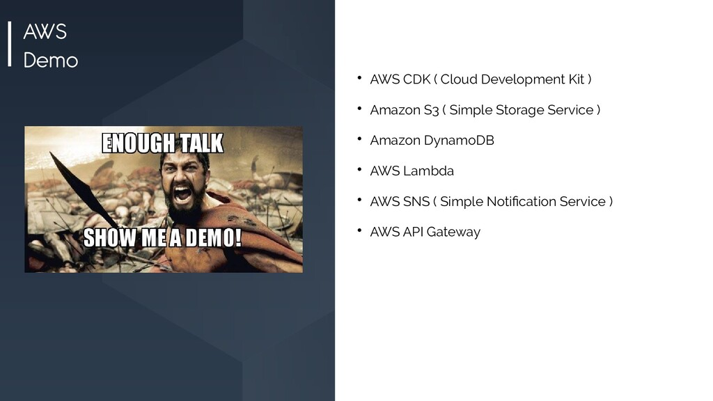 AWS Demo  AWS CDK ( Cloud Development Kit )  ...
