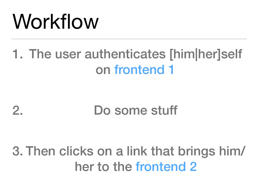 Workflow 1. The user authenticates [him|her]self...