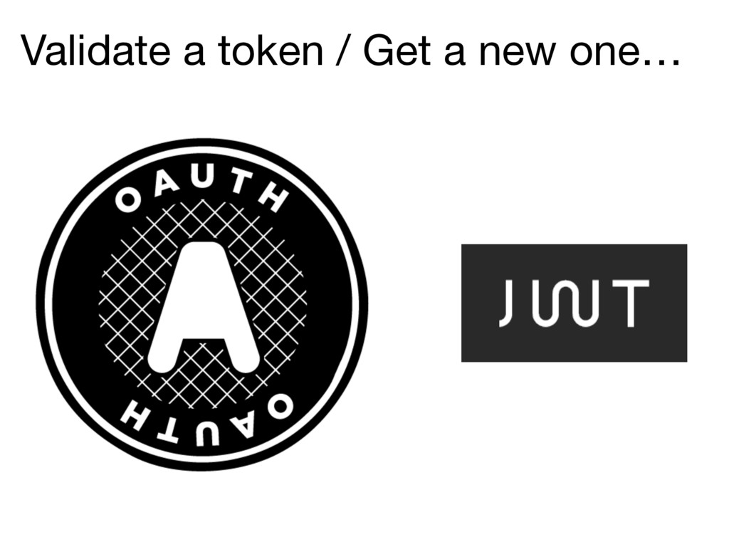 Validate a token / Get a new one…