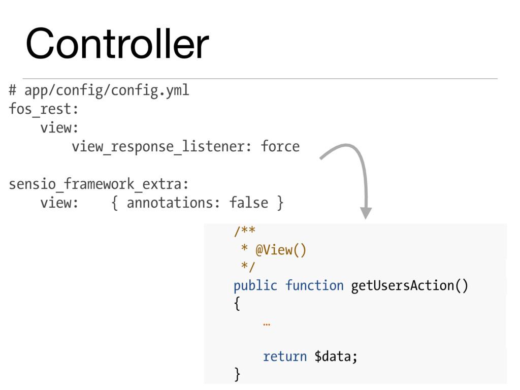Controller # app/config/config.yml fos_rest: vi...