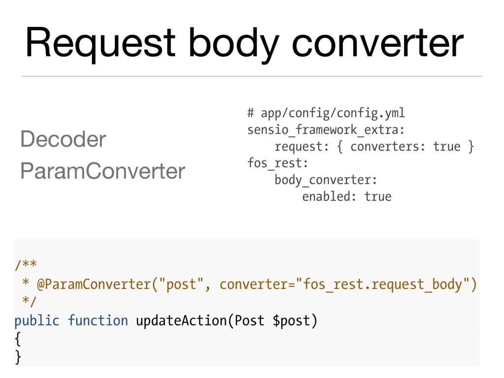 Request body converter Decoder  ParamConverter ...