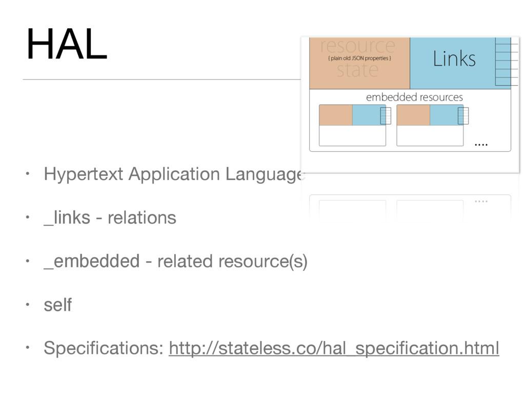 HAL • Hypertext Application Language  • _links ...