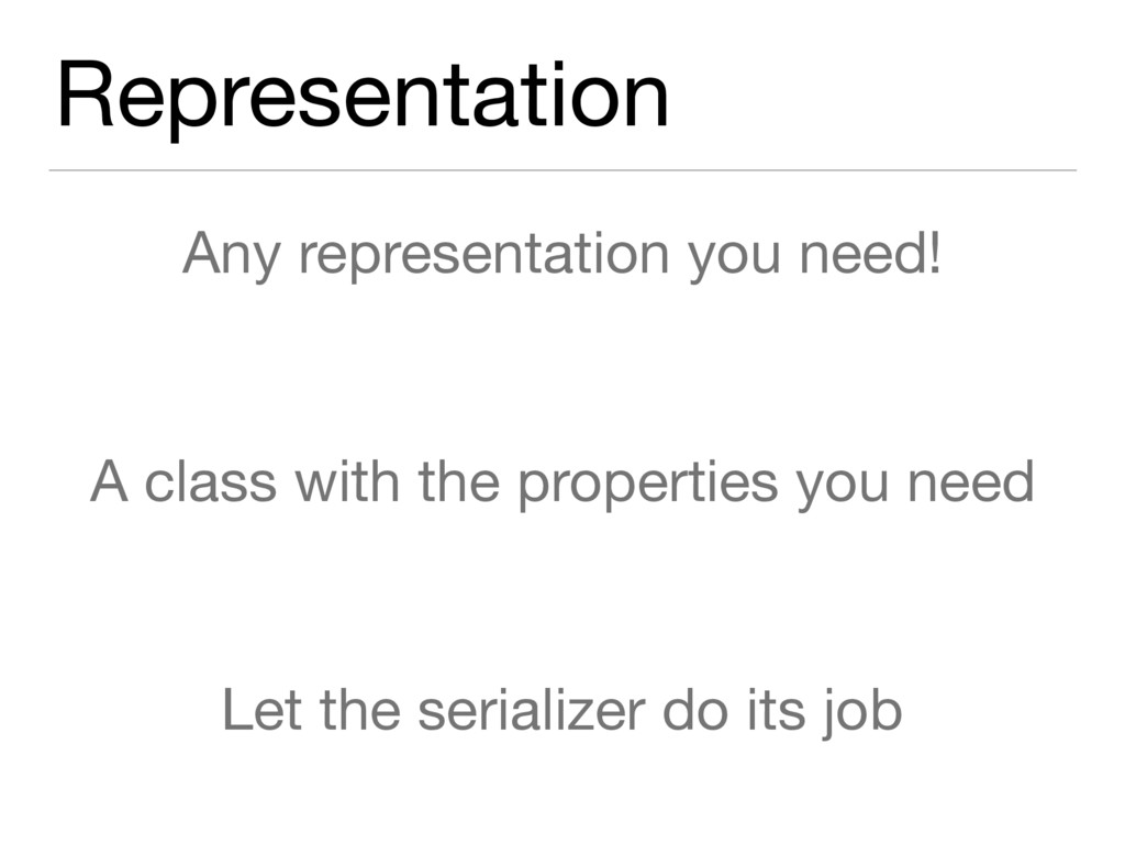 Representation Any representation you need!  A ...