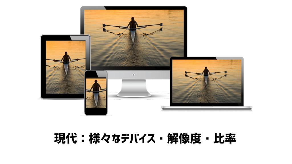 現代:様々なデバイス・解像度・比率