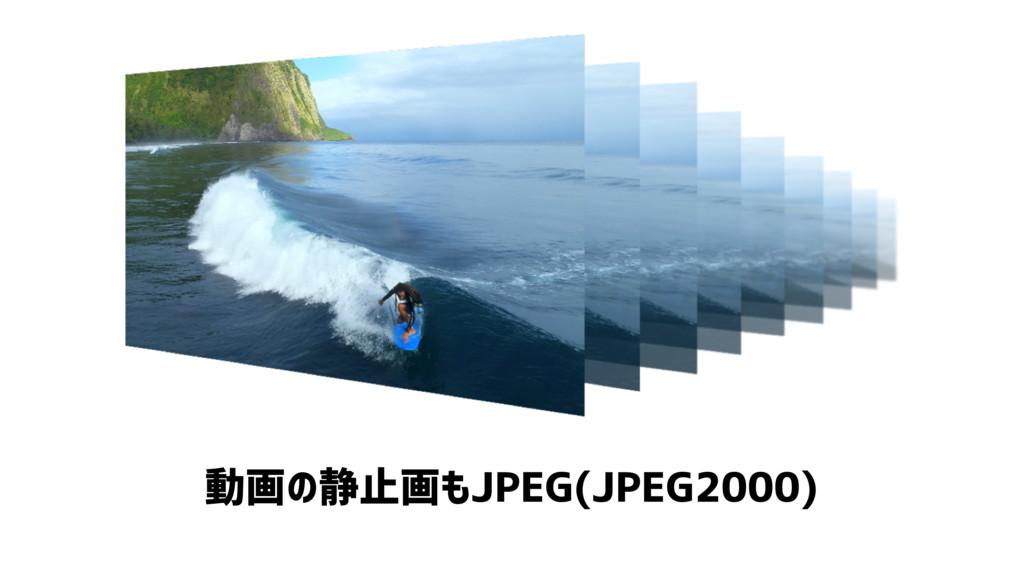 動画の静止画もJPEG(JPEG2000)