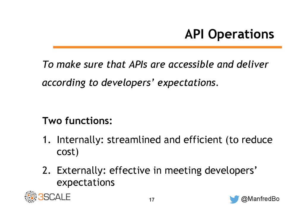 @ManfredBo 17 API Operations To make sure that ...