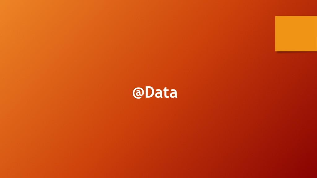 @Data