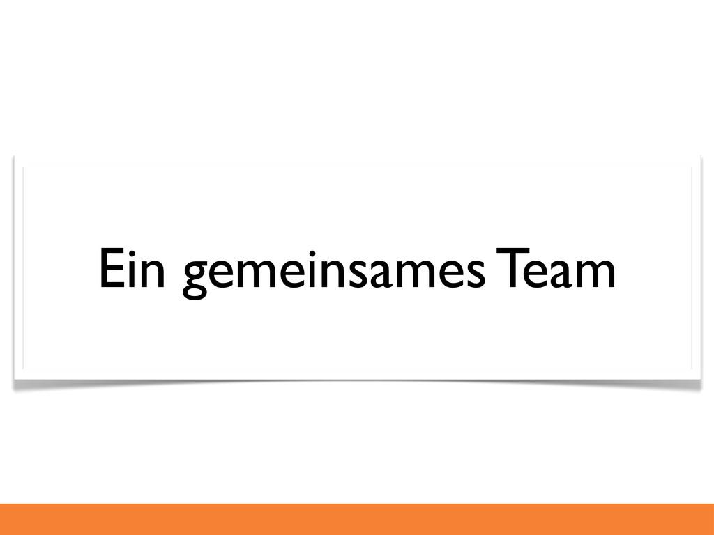 Ein gemeinsames Team