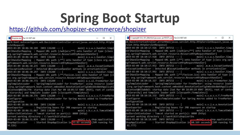Spring Boot Startup https://github.com/shopizer...