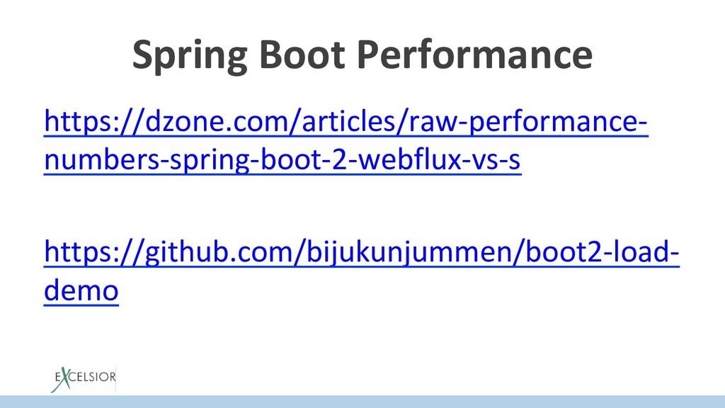Spring Boot Performance https://dzone.com/artic...