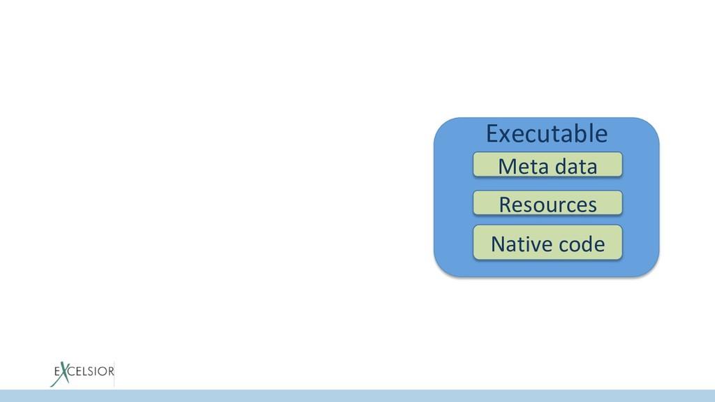Executable Meta data Native code Resources