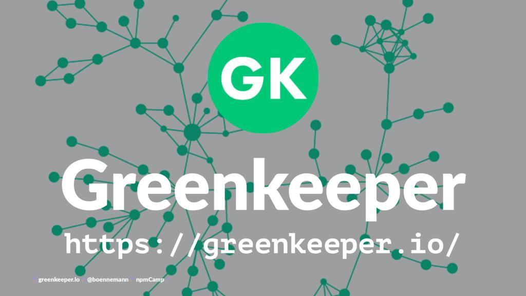 Greenkeeper https://greenkeeper.io/ greenkeeper...