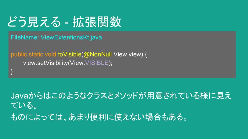 どう見える - 拡張関数 FileName: ViewExtentionsKt.java pu...