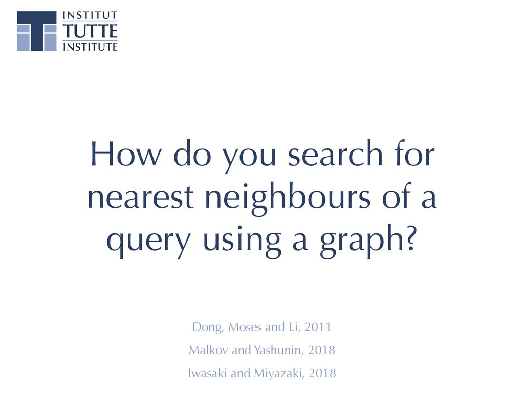 How do you search for nearest neighbours of a q...