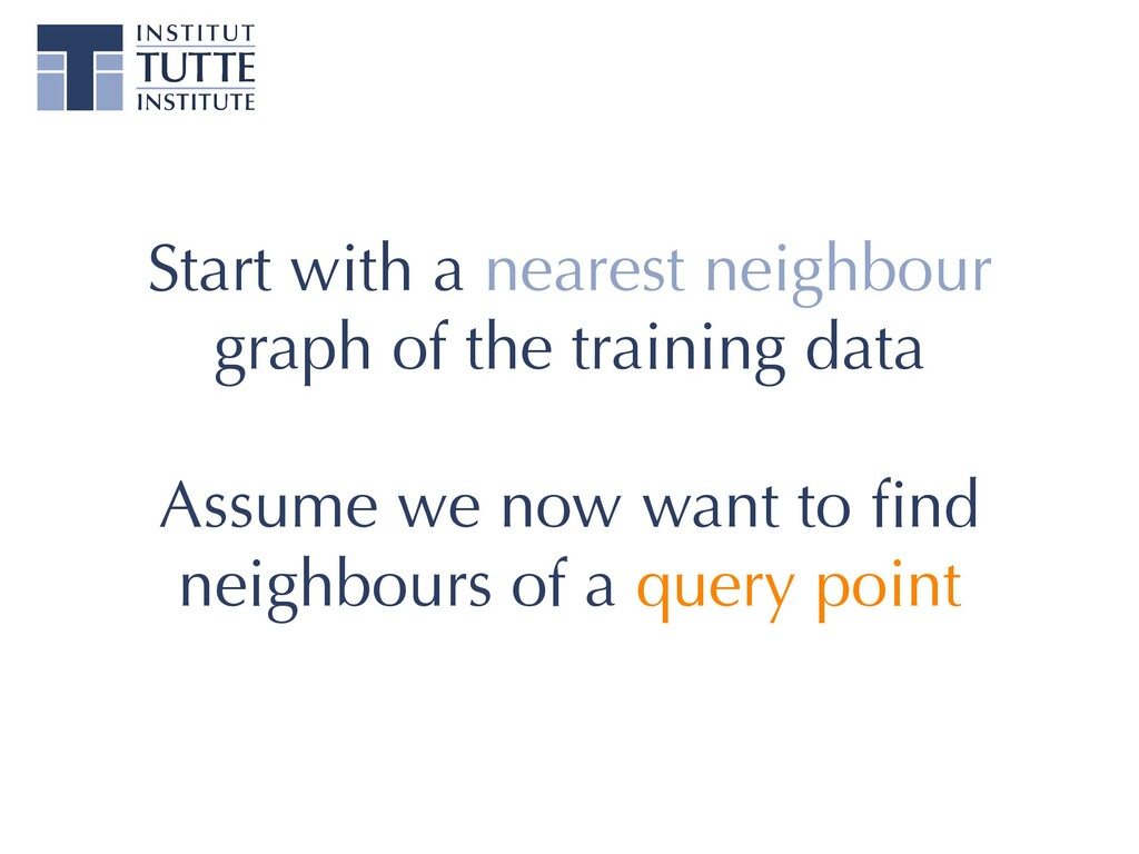 Start with a nearest neighbour graph of the tra...