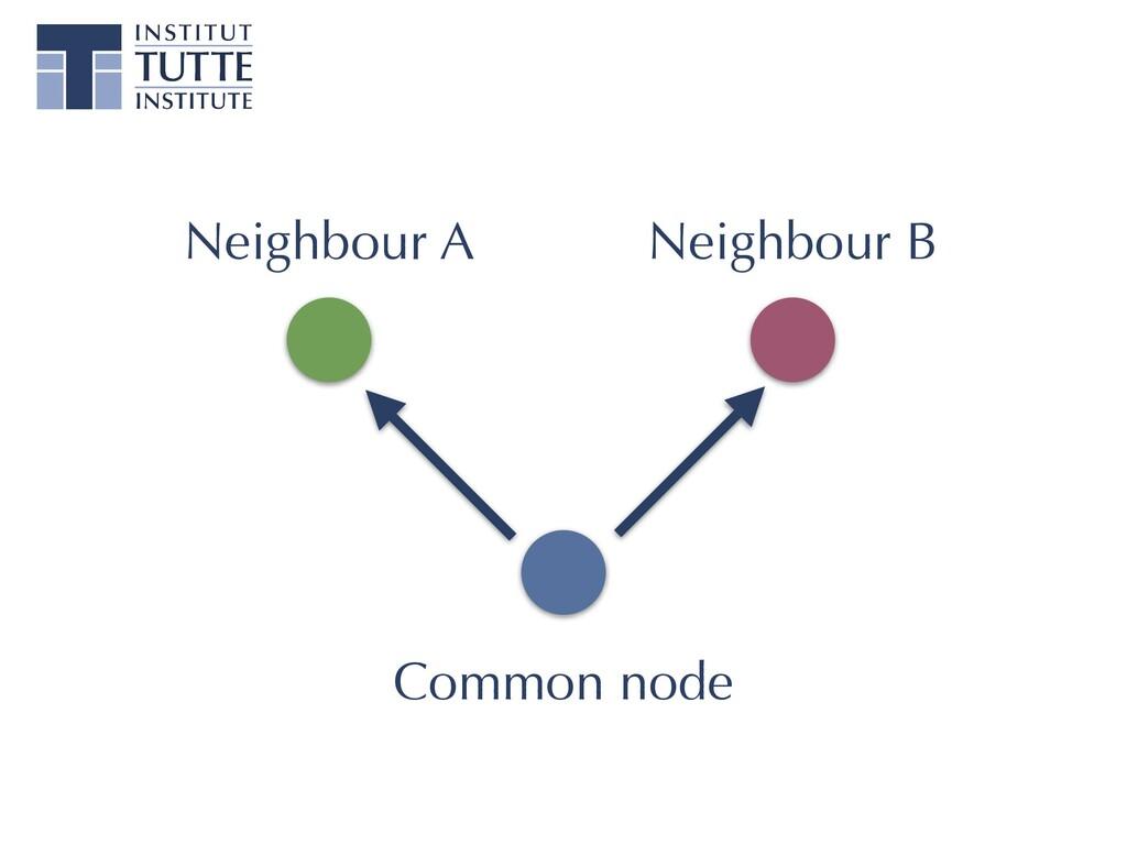 Neighbour A Neighbour B Common node