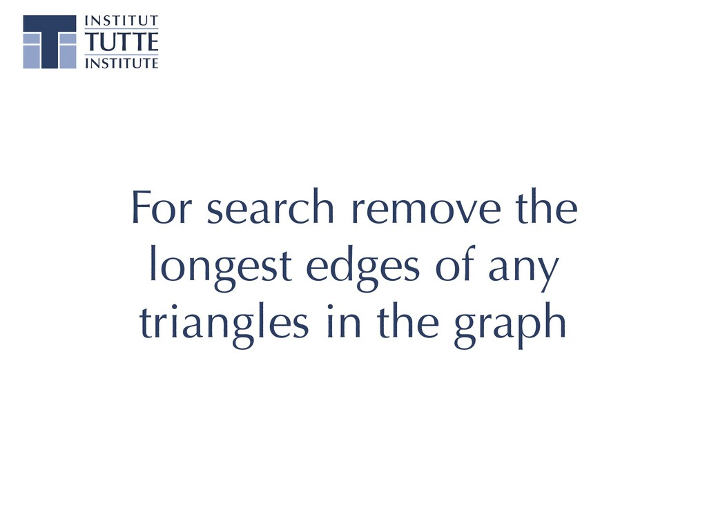 For search remove the longest edges of any tria...