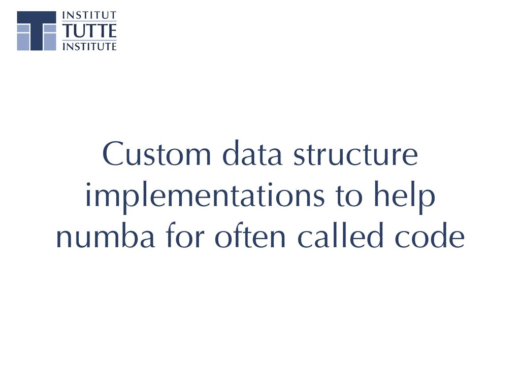Custom data structure implementations to help n...