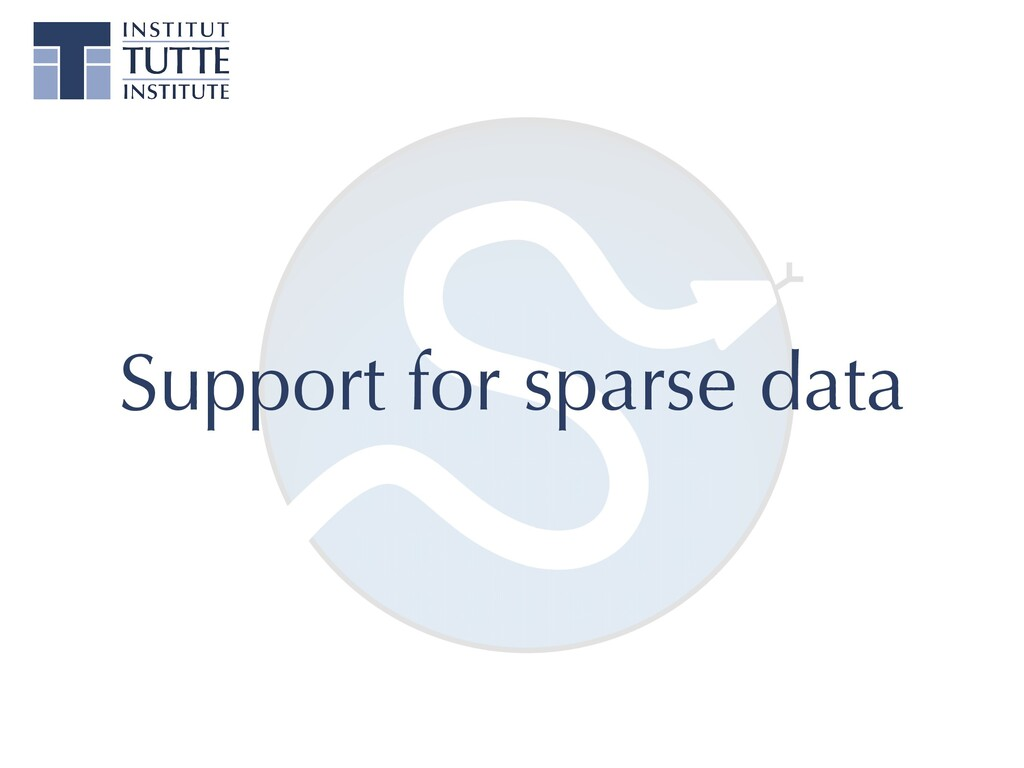 Support for sparse data