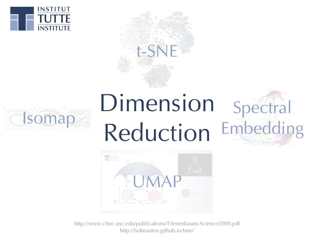Dimension   Reduction http://lvdmaaten.github.i...