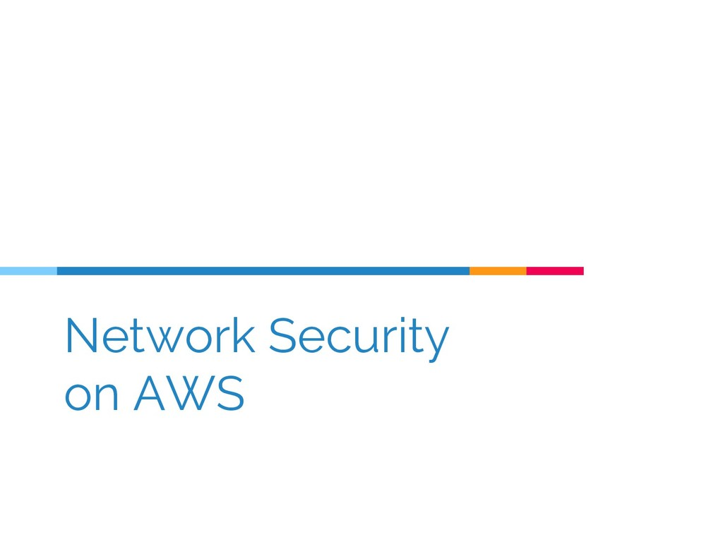 Network Security on AWS