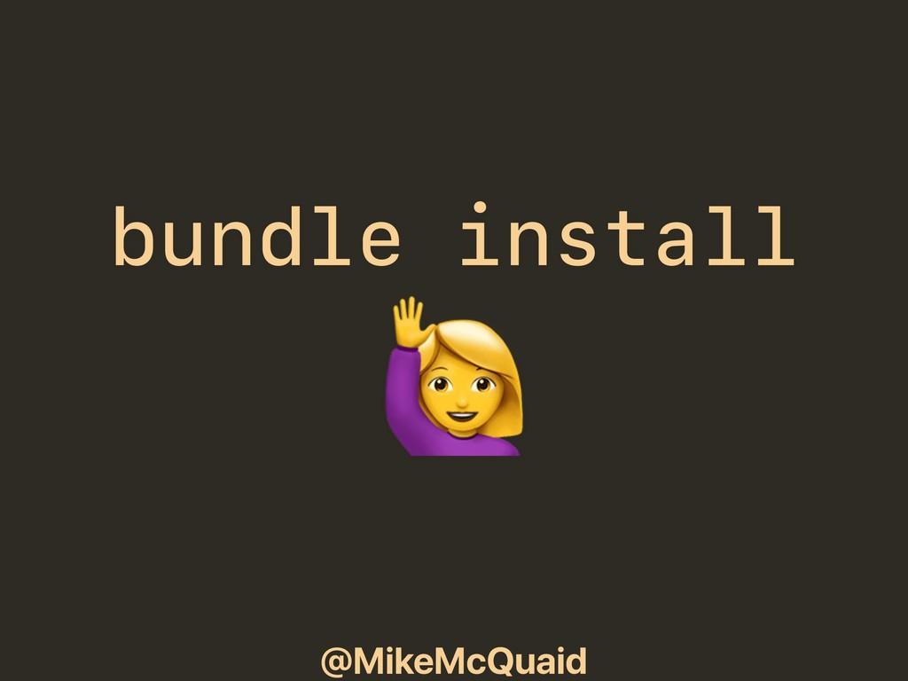 @MikeMcQuaid bundle install