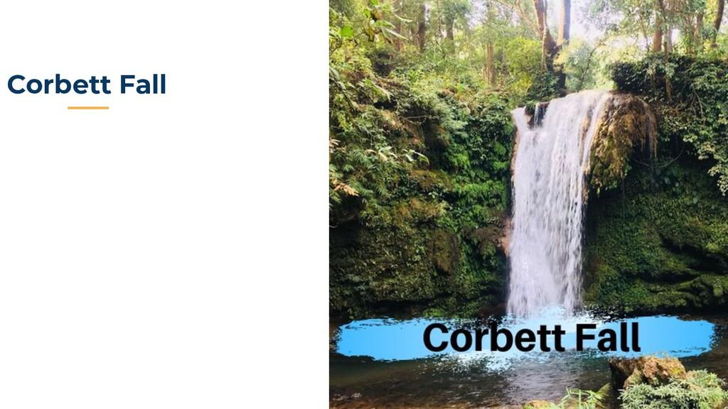 Corbett Fall