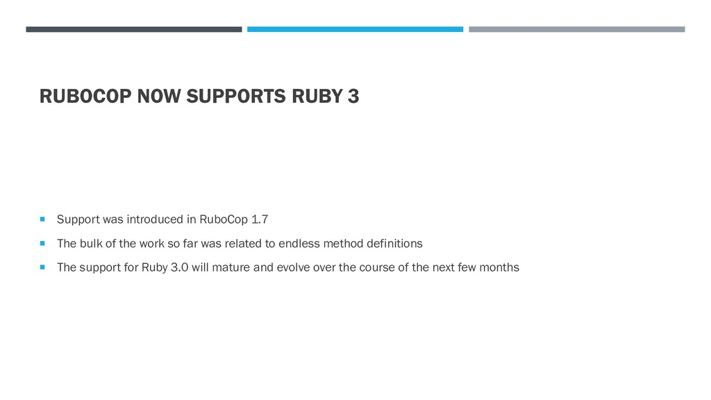 RUBOCOP NOW SUPPORTS RUBY 3  Support was intro...