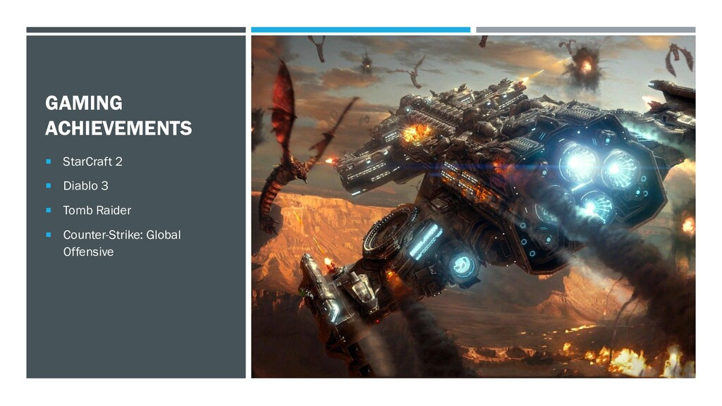 GAMING ACHIEVEMENTS  StarCraft 2  Diablo 3  ...