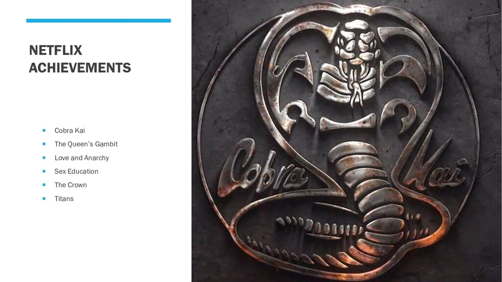 NETFLIX ACHIEVEMENTS  Cobra Kai  The Queen's ...