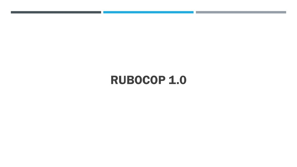 RUBOCOP 1.0