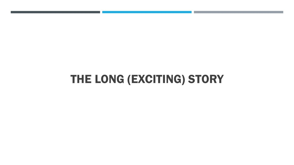 THE LONG (EXCITING) STORY