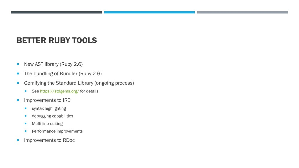 BETTER RUBY TOOLS  New AST library (Ruby 2.6) ...