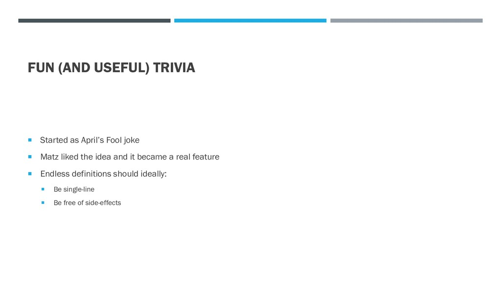 FUN (AND USEFUL) TRIVIA  Started as April's Fo...