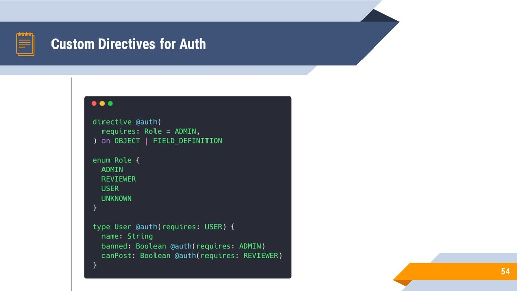 Custom Directives for Auth 54