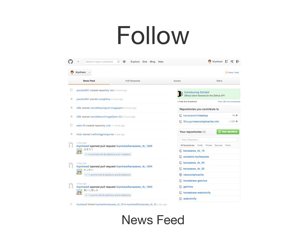 Follow News Feed