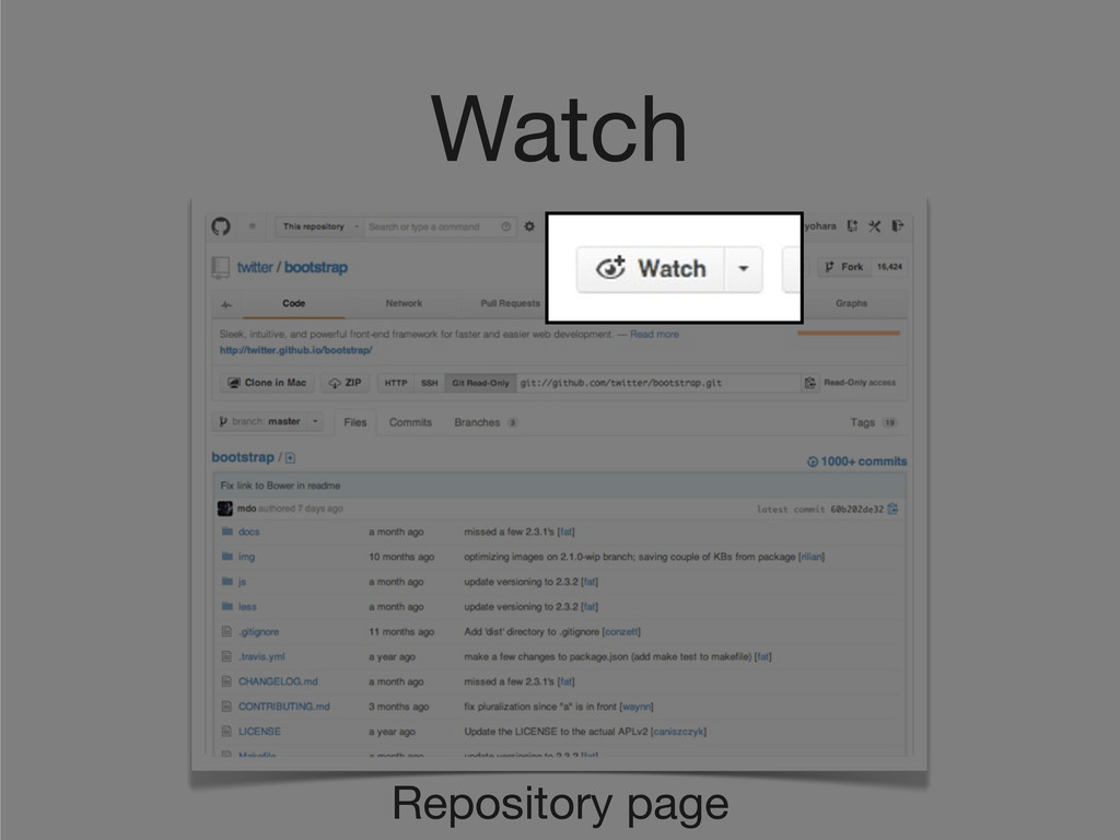 Watch Repository page