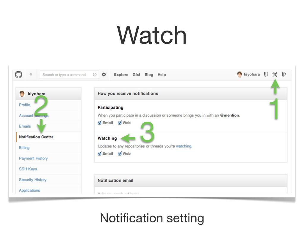 Watch Notification setting 1 2 3
