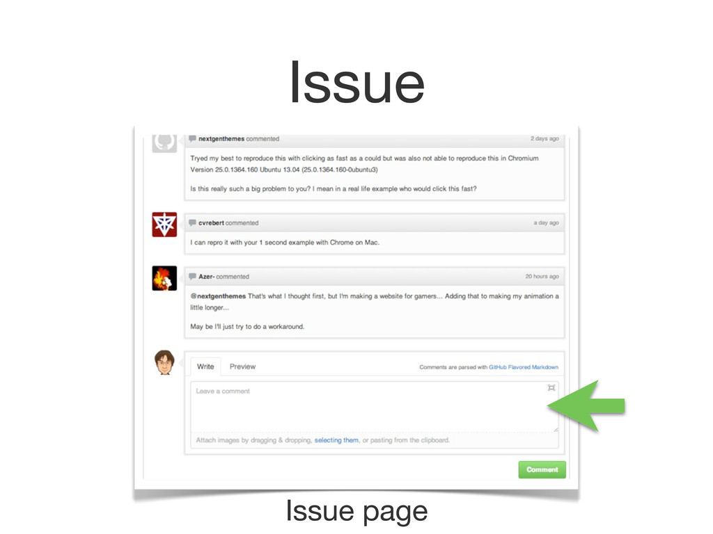 Issue Issue page