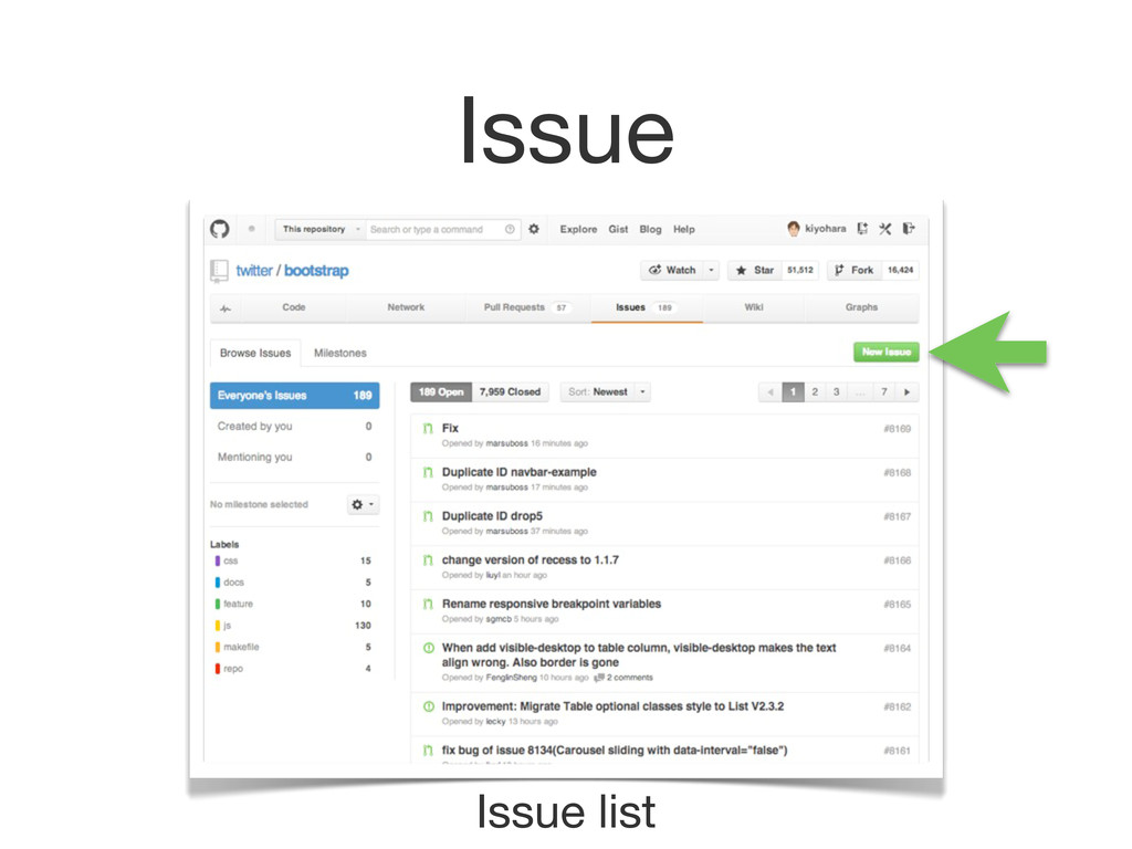 Issue Issue list