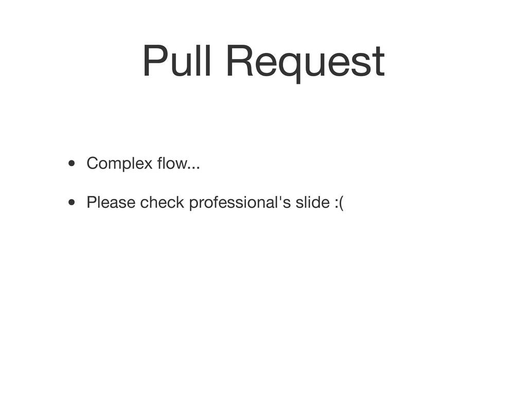 Pull Request • Complex flow... • Please check pr...